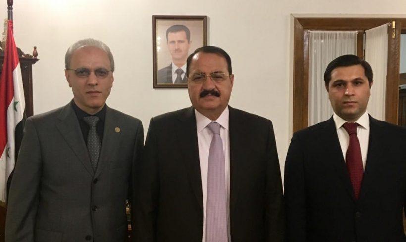 Встреча с Чрезвычайным и Полномочным Послом Сирийской Арабской Республики в РФ